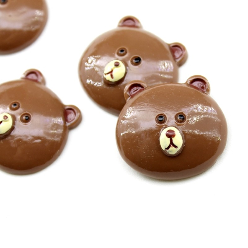 Кабошон голова медведя #5525