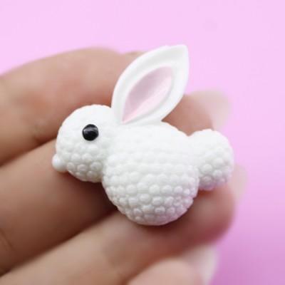 Кабошон Белый Кролик #5569