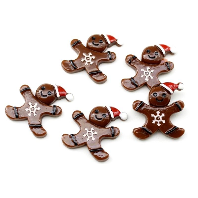 Кабошон весёлая печенька #5804