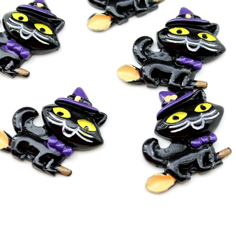 Кабошон Волшебный кот #5819