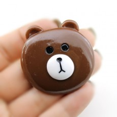 Кабошон Голова Медведя D=44мм #5728