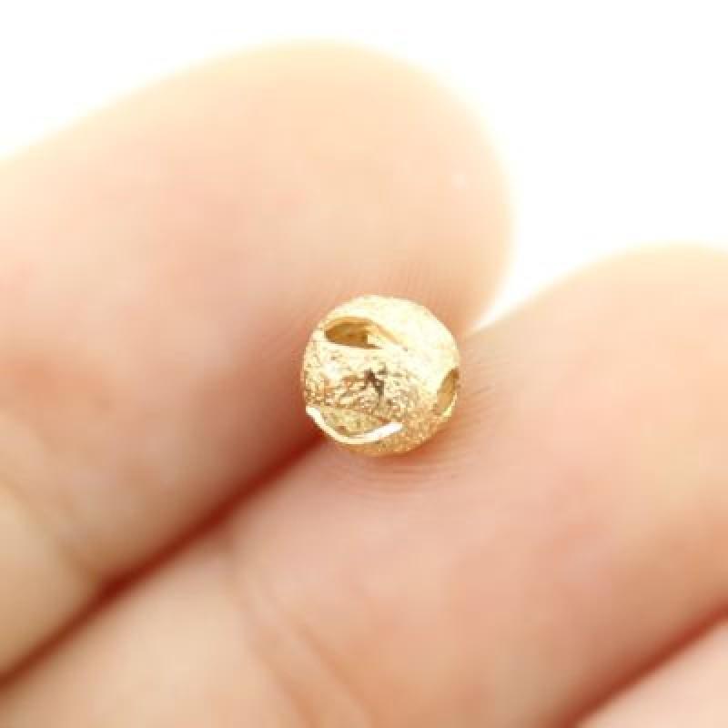Бусины Золотые полые D=6, 1гр (5 шт) #3980