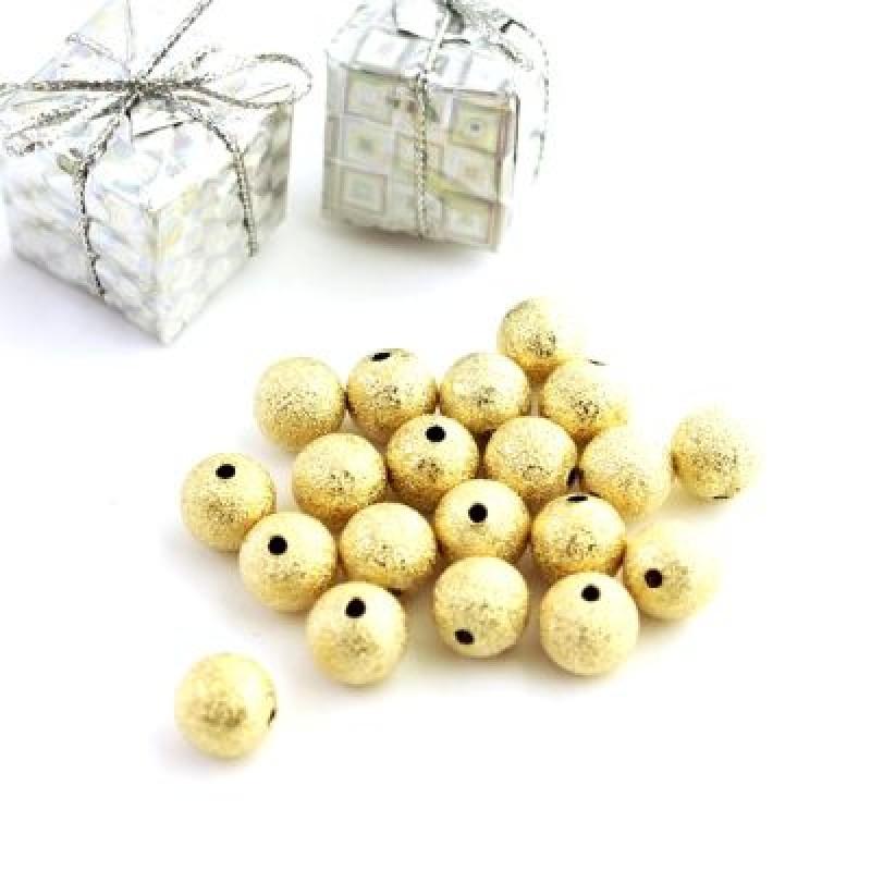 Бусины D=10, 1 шт Золото #5349