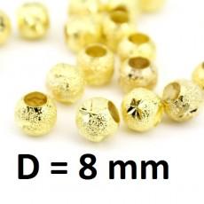 Бусины Люкс D=8мм Золото, 1шт #2828