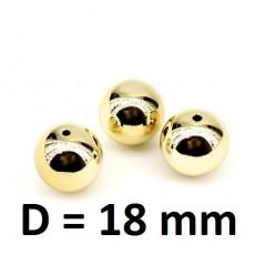 Бусины D=18 Золотые, 1шт #2863