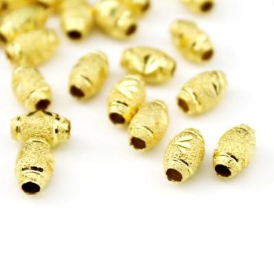 Бусины 8х6, 1шт золотистые #6105