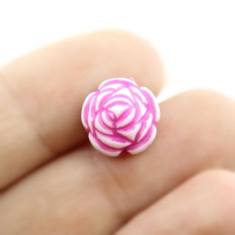 Бусины Розы МИКС D=12 мм 1 шт #1827