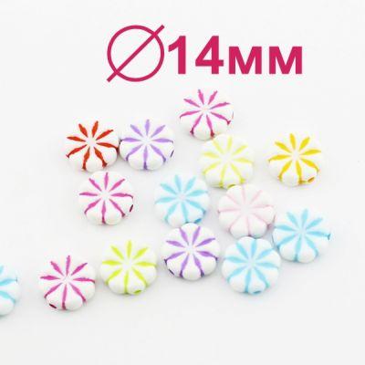 Бусины МИКС 14х5 D=14 мм 1 шт #1835