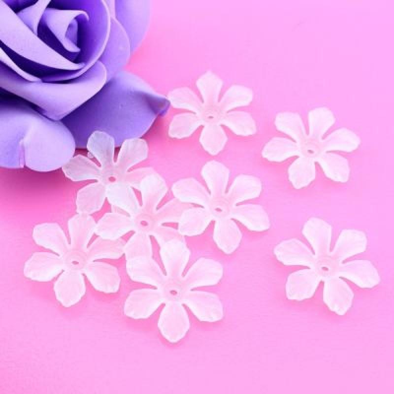 Бусины Цветы Матовые 26х6, 1 шт #4310
