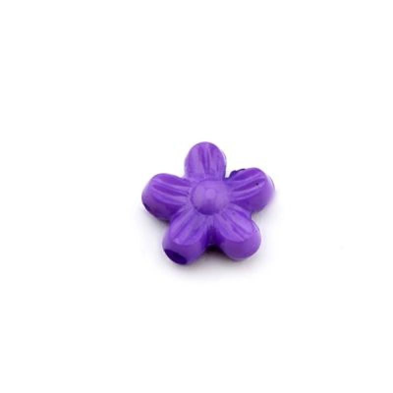 Бусины Цветочки 10х4 МИКС 1гр (7шт) #4470