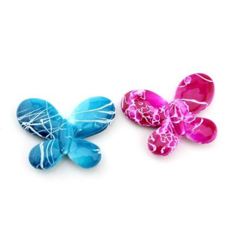 Бусины Узорные бабочки 30х22х5 МИКС 1шт #4415
