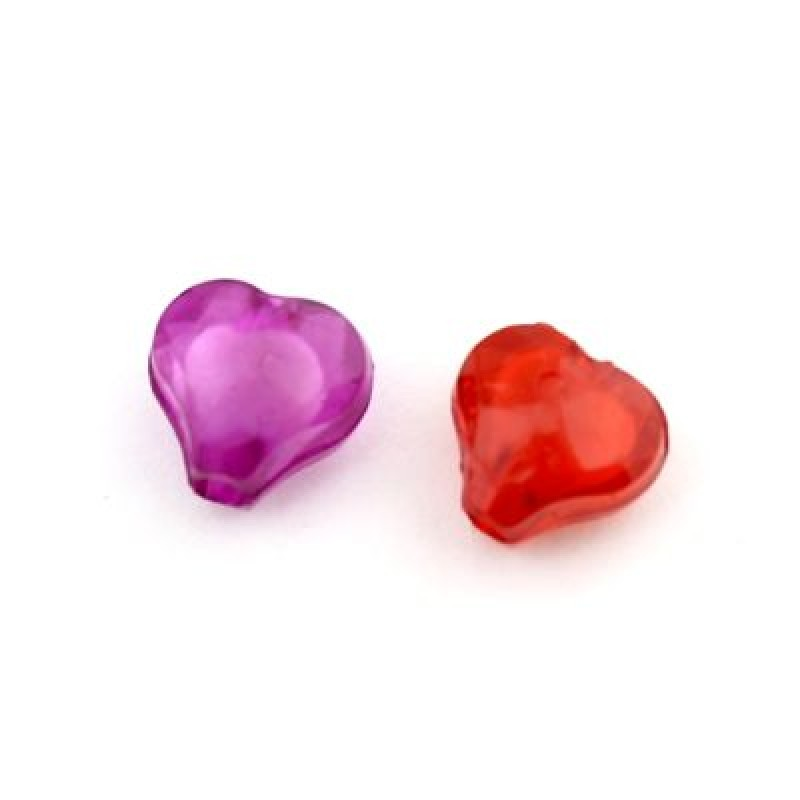 Бусины Сердечки 10х10х6 МИКС 1гр (3шт) #4675