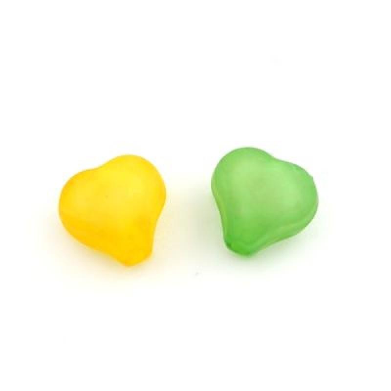 Бусины Сердечки 10х9х6 1гр (3шт) #4677