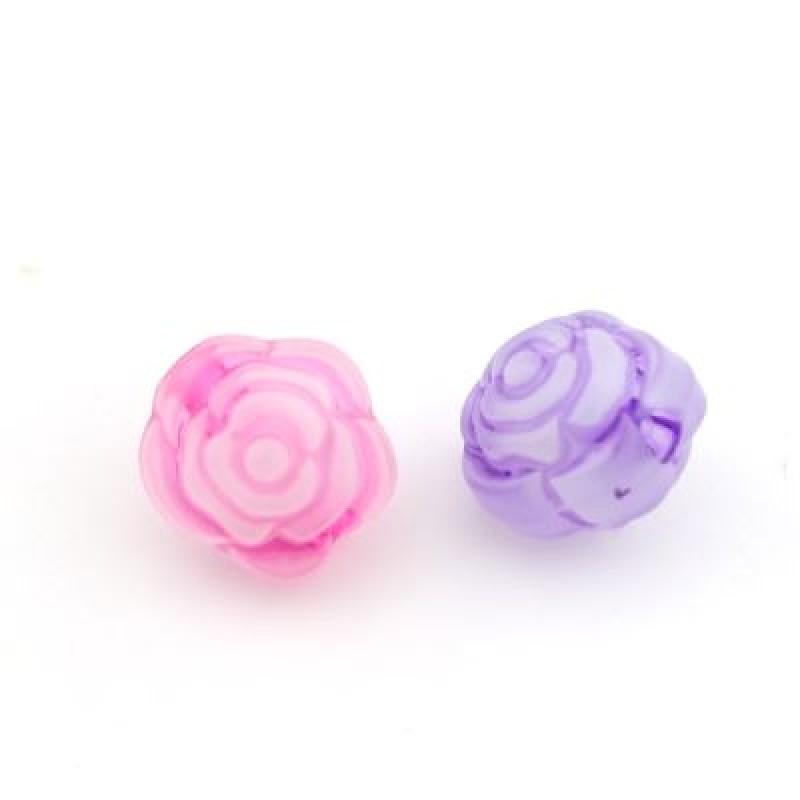 Бусины Розы D=11 МИКС 1шт #4678