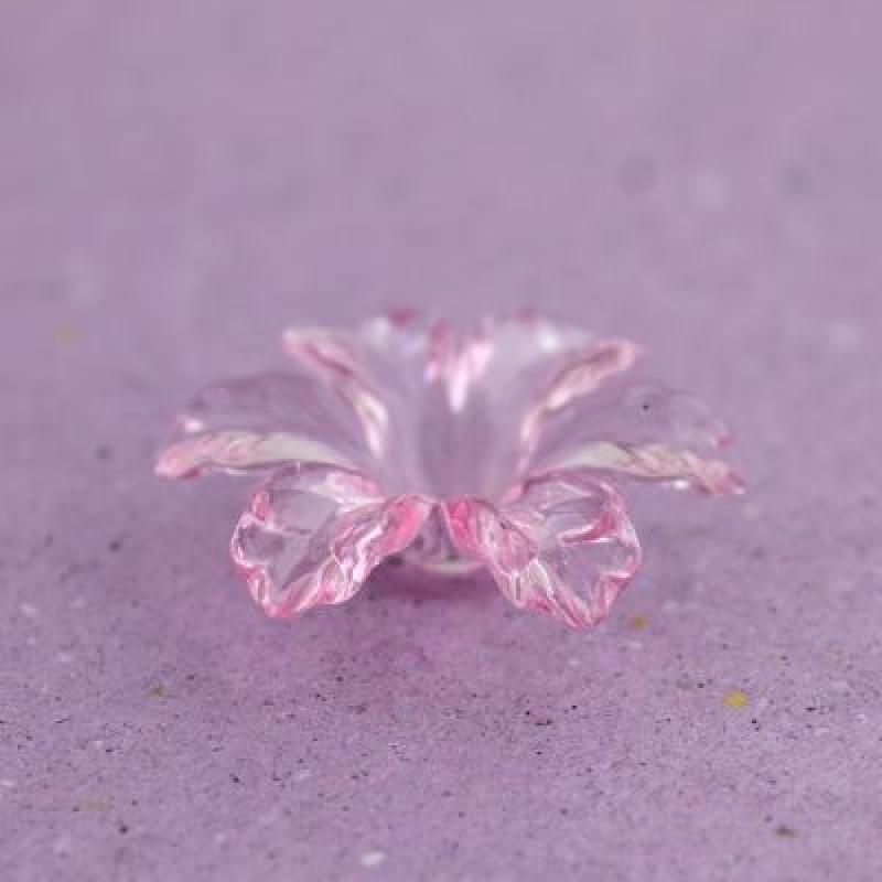 Бусины Цветок D=32х9, 1шт Розовые #5734
