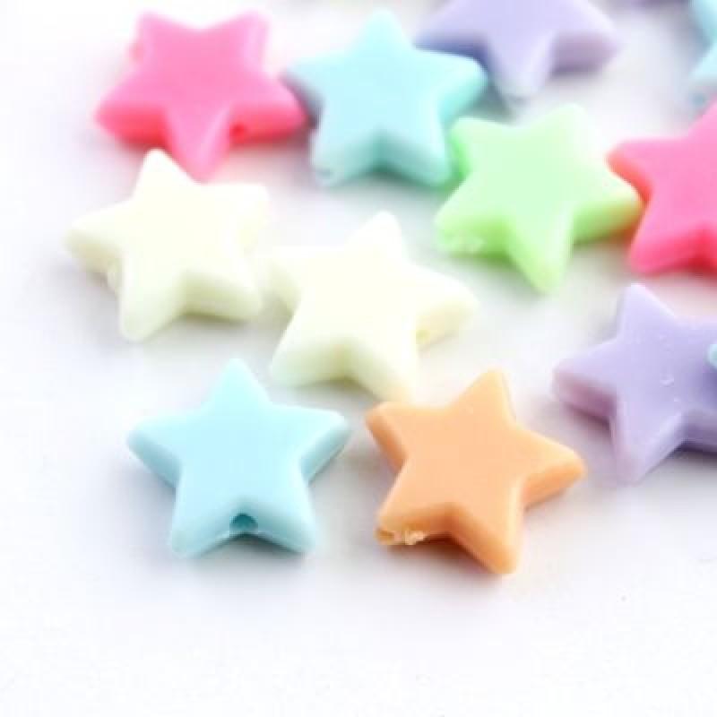 Бусины Звёзды 14х5, 1шт МИКС #3047