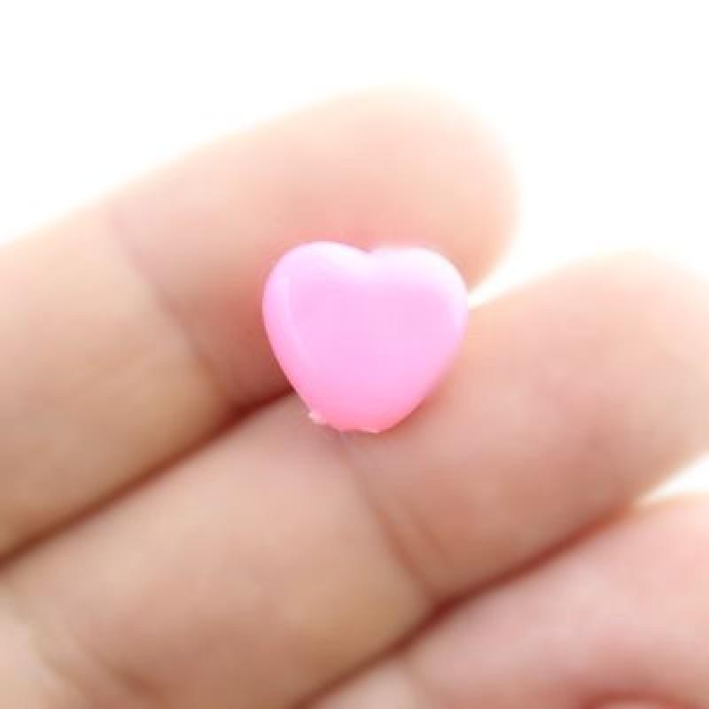 Бусины Сердечки 12х11х5, 1 шт МИКС #2764