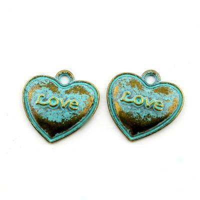 Подвеска Сердце Love 17х17 #4014