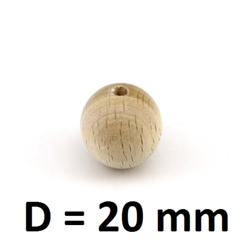 Бусины из можжевельника D=20, 1шт #1153