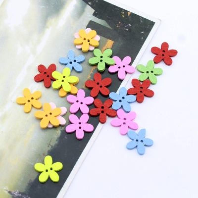 Пуговица Цветочек МИКС 15х2 мм #2137