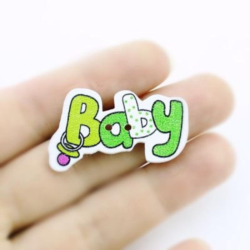 Пуговица Baby 36х22 МИКС #4087