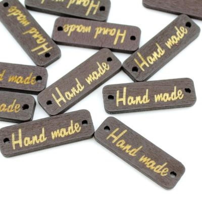 Пуговица Hand Made 31х10 Черная #4071