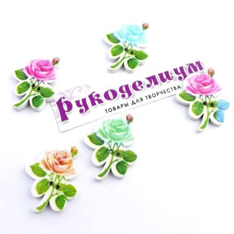 Пуговица Роза 30х22 #5383
