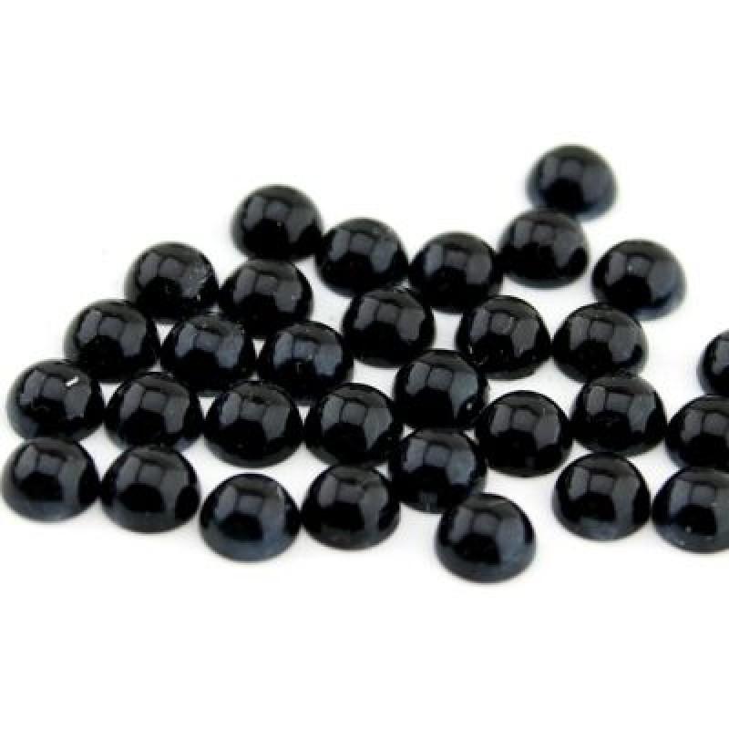 Полубусины Черные D=6мм, 1гр (16шт) #4287