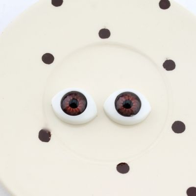 Глаза для кукол 14х11мм 2 шт #4762