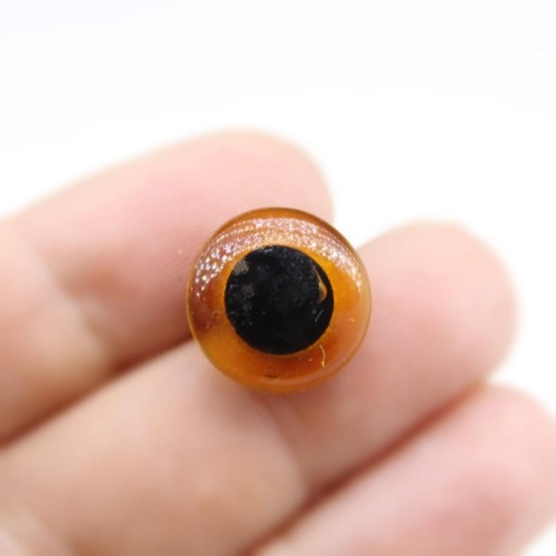Глаза Стеклянные на гвоздике D=15мм Карие #2066