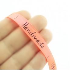 Лента атласная HandMade 15 мм, 1метр #4821