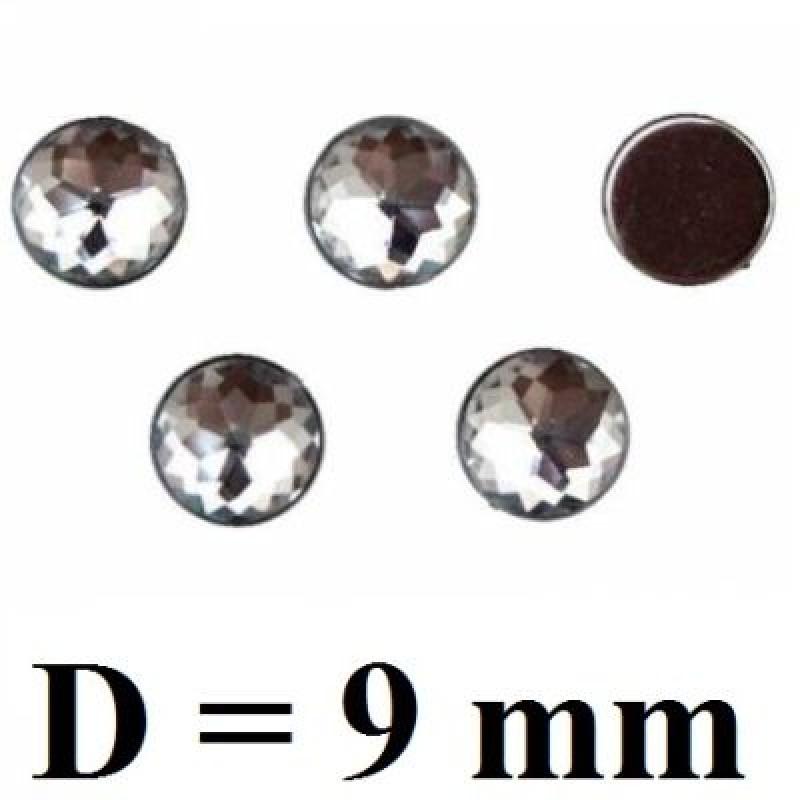 Стразы Пластиковые D=9 мм 1 шт #4737