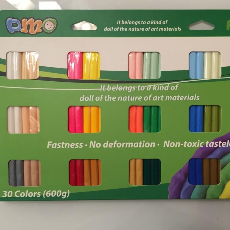 Набор полимерной глины DMO 600 гр, 30 цветов #10449