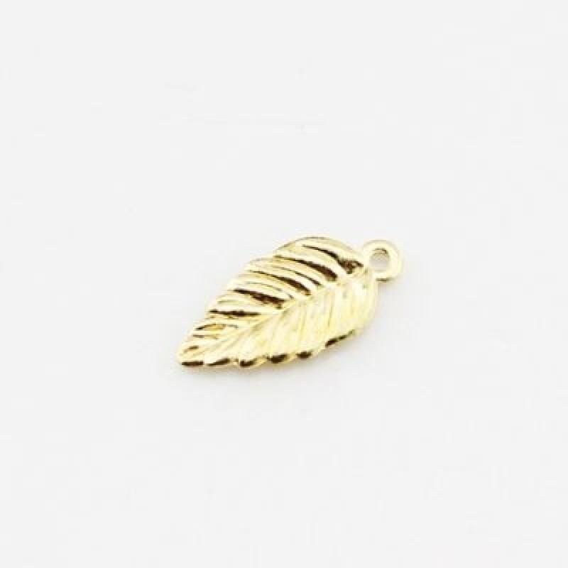 Подвеска Золотой листик #1198
