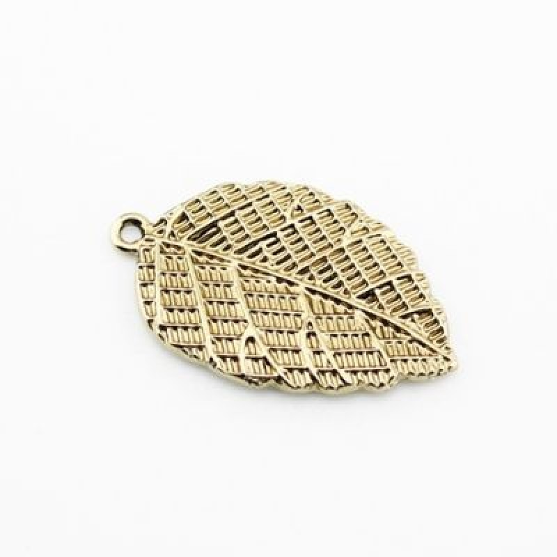 Подвеска Золотой лист #1229