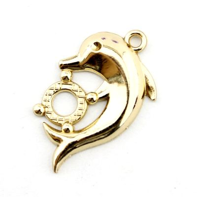 Подвеска Золотой дельфин #3680
