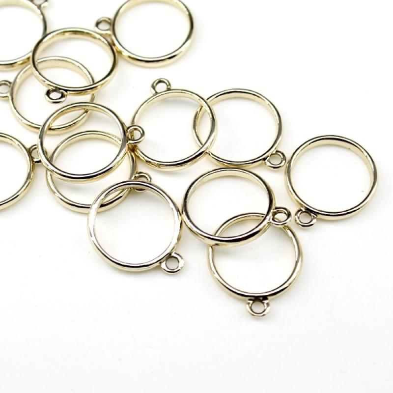 Подвеска Кольцо D=16мм золотое #5316