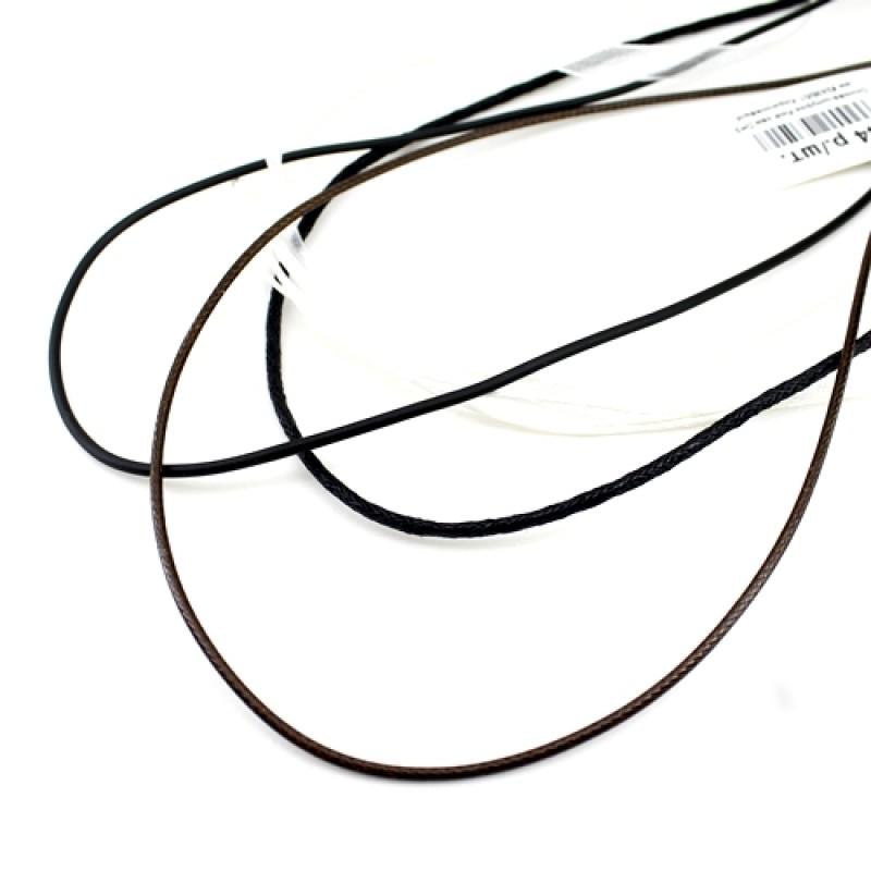 Основа Вощевой шнур  43 см 3мм #2432