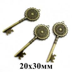 Основа для кулона D=20 Ключ #5456