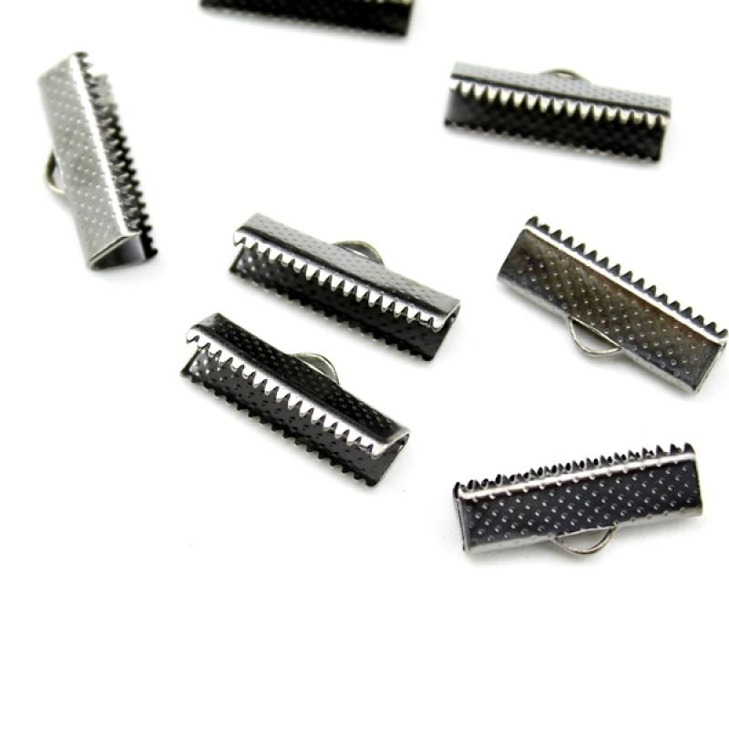 Зажимы для лент 20 мм Черные #4789