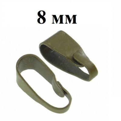 Держатель для кулона 8 мм Бронза #3749