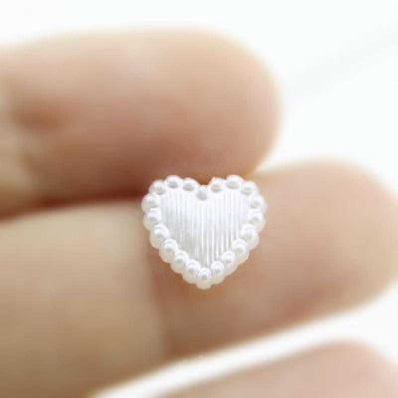 Сердечко 10х11, 1шт Белое #4134