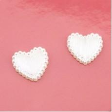 Сердце 13х14, 1шт Белое #4143
