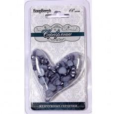 Сердечки жемчужные 6 мм и 8 мм, 60 шт #10099