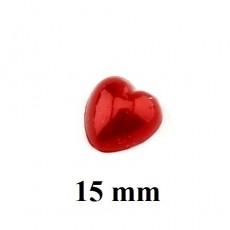 Полубусины Сердце Красные 15мм, 1шт #5888