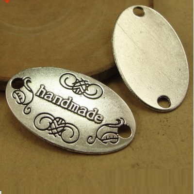 Декор HandMade 19х32мм Серебро #4879