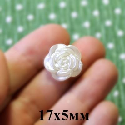 Кабошон Роза D=17х5 Кремовый #5443