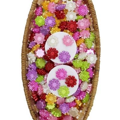 Кабошон цветок D=20мм, 1шт МИКС #5927
