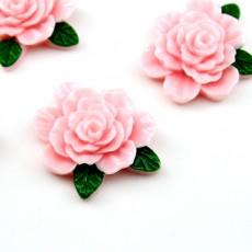 Кабошон Розовая Роза D=25мм #5713