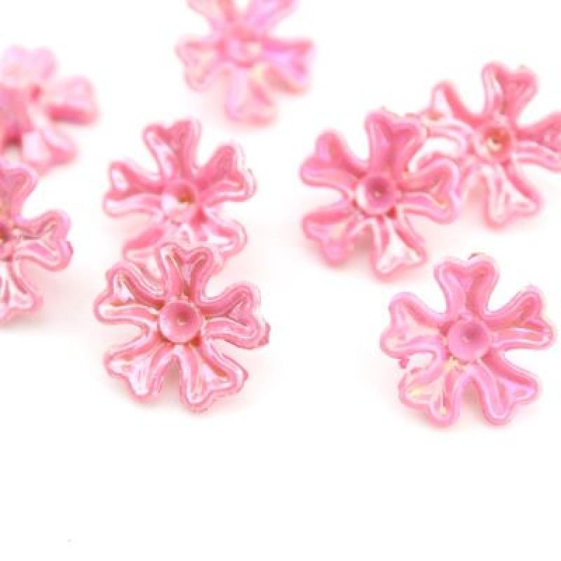 Бусины пришивные 17х7, 1шт Розовые #4298